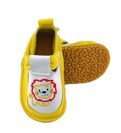 Pantofi galbeni cu leu cu coama rosie, Macco [0]