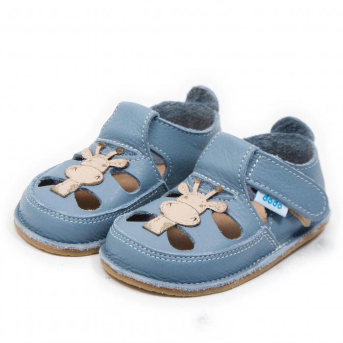 Sandale copii Baby Blue cu Girafa, Dodo Shoes 1