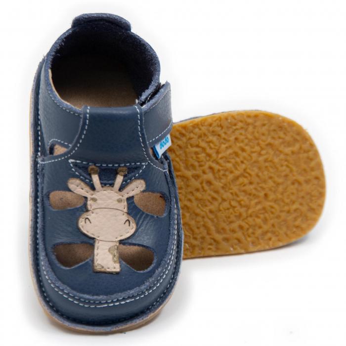 Sandale baieti Smokey cu Girafa, Dodo Shoes [0]