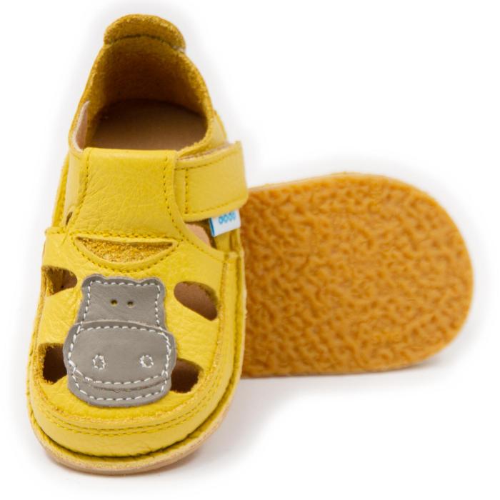 Sandale copii galbene cu Hipo, Dodo Shoes [0]