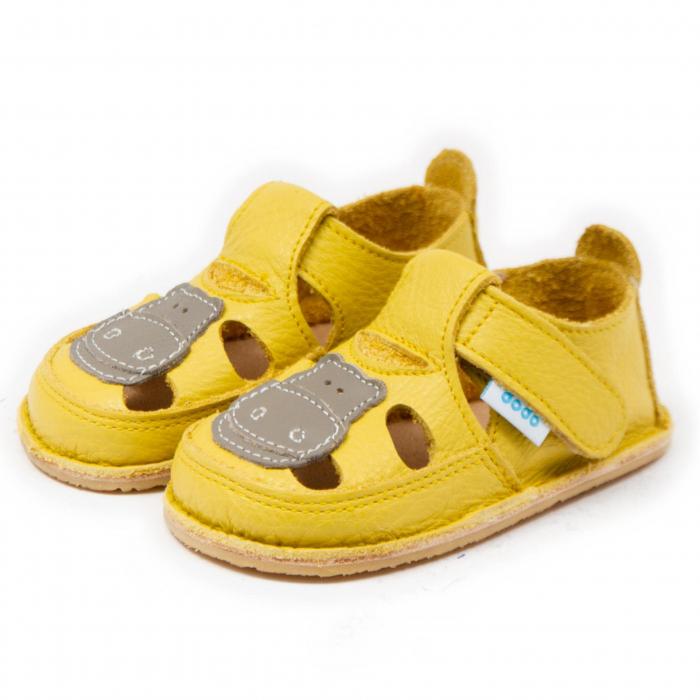 Sandale copii galbene cu Hipo, Dodo Shoes [1]