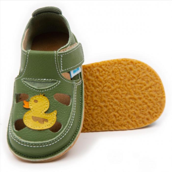 Sandale copii verzi cu ratusca, Dodo Shoes 0