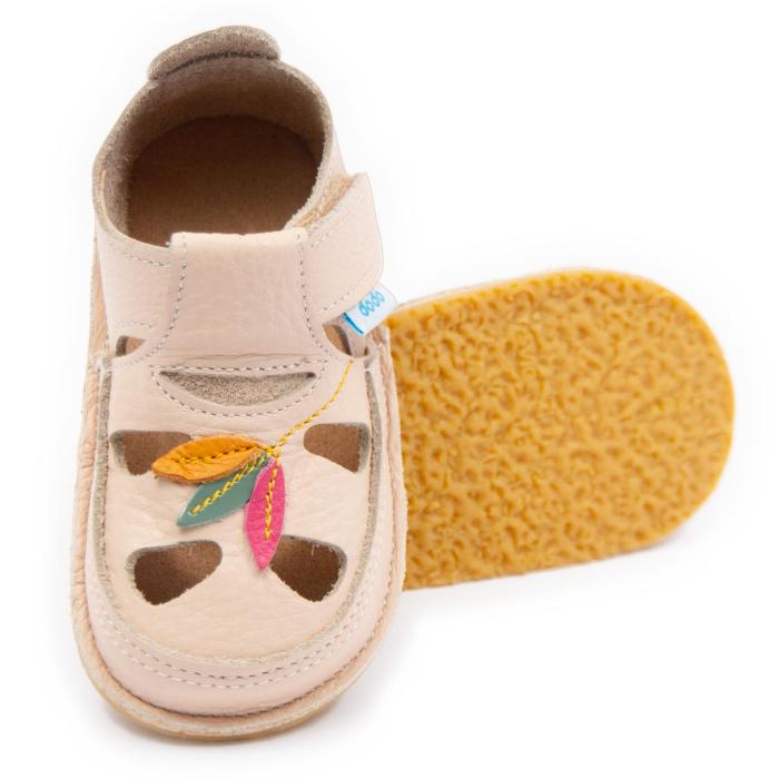 Sandale copii crem Tulip, Dodo Shoes 0