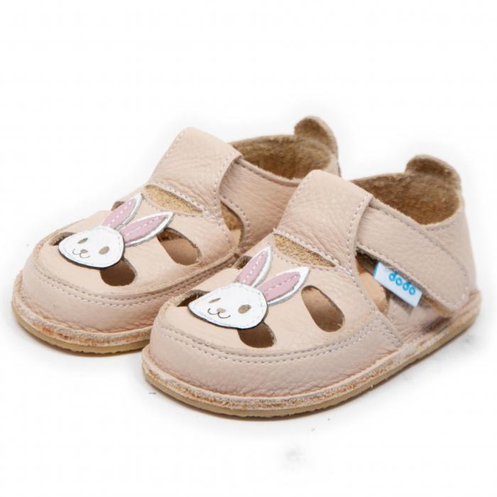 Sandale crem cu iepuras, Dodo Shoes 1