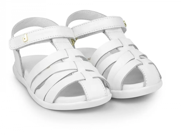 Sandale fete Bibi Baby Soft Alb 0