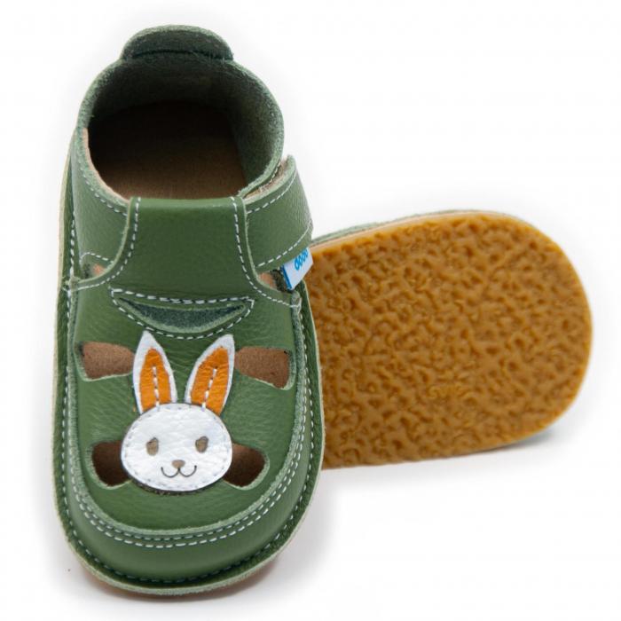 Sandale verzi cu iepuras, Dodo Shoes 0