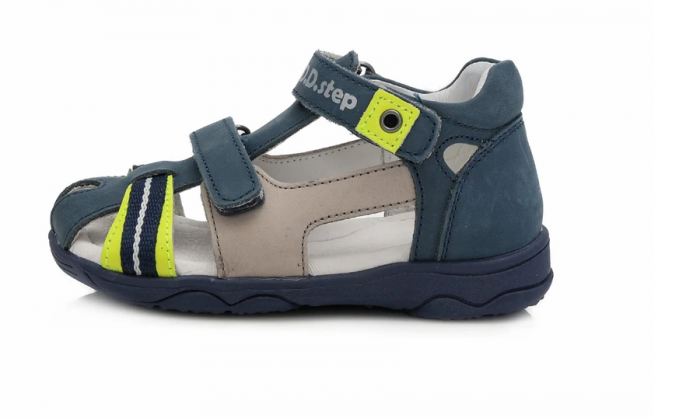 Sandale pentru Baieti de Culoarea Bleumarin, D.D.Step 0