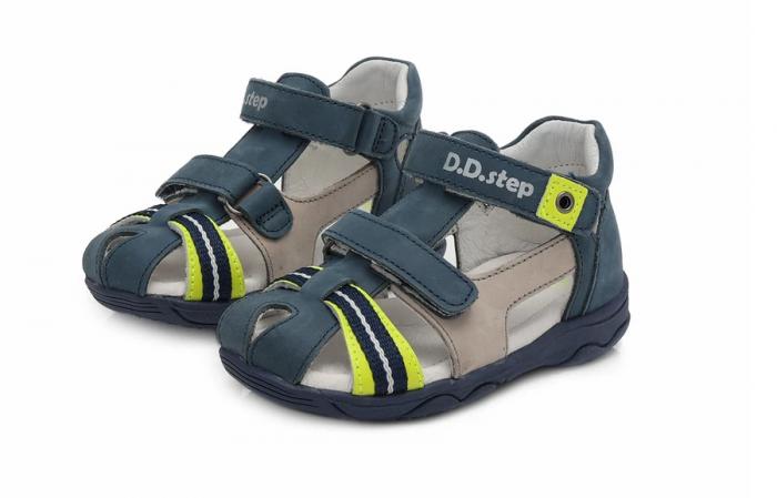 Sandale pentru Baieti de Culoarea Bleumarin, D.D.Step 1
