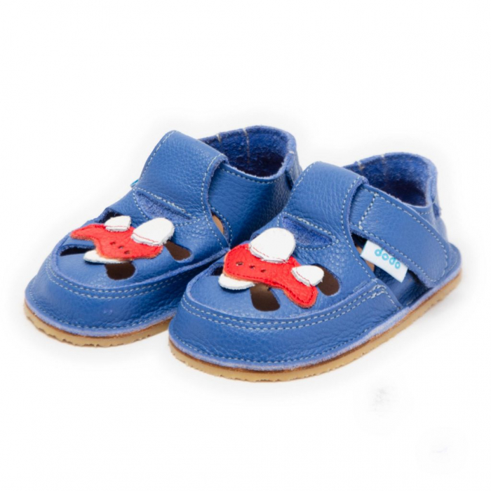 Sandale albastre cu avion, Dodo Shoes 1