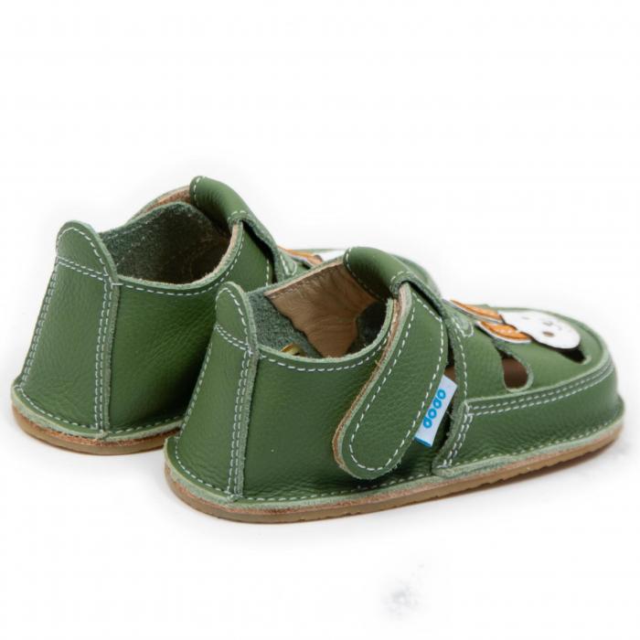 Sandale verzi cu iepuras, Dodo Shoes 2