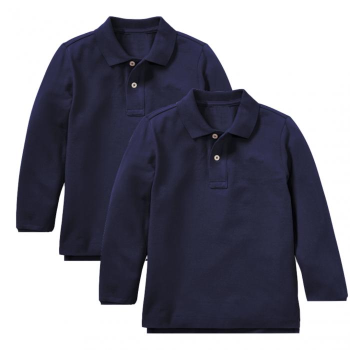Set 2 bluze polo bleumarin maneca lunga copii, TinTin Shop [0]