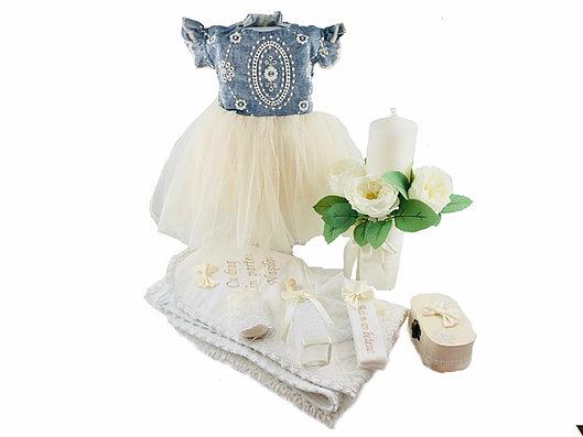 rochie botez alba cu trena 0