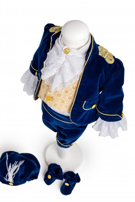 Set botez Micul Prinț, din catifea albastră 1