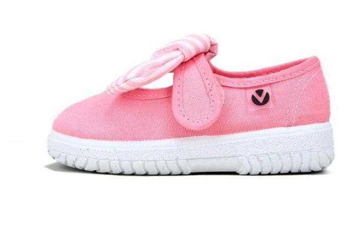 Balerini roz cu Velcro, Victoria Calzados [0]