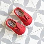 Balerini rojo slip-on, Victoria Calzados [1]