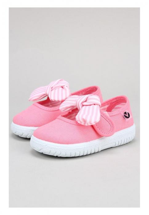 Balerini roz cu Velcro, Victoria Calzados [1]