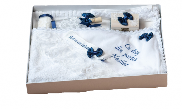 Trusou pentru botez bleumarin, TinTin Shop 0
