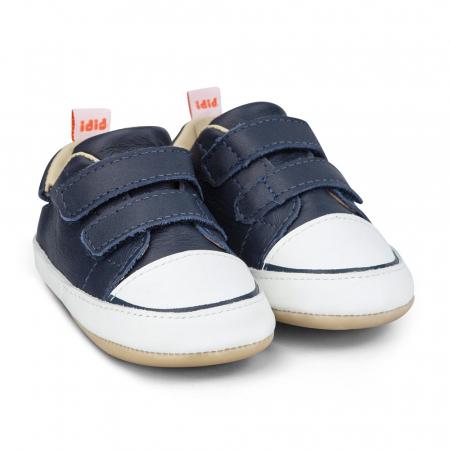 Pantofi Bibi Afeto Joy Naval/alb cu velcro0