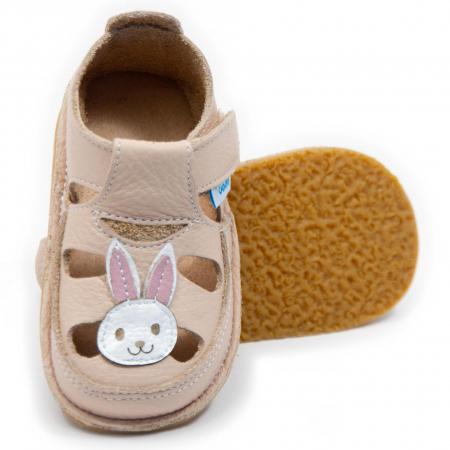 Sandale crem cu iepuras, Dodo Shoes [0]
