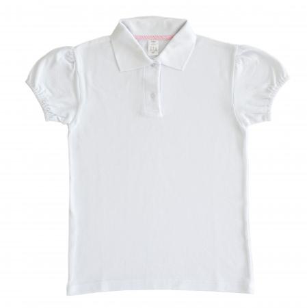 Tricou Polo Alb Școală, Pentru Fete, TinTin Shop