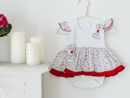 Body rochița pentru fete, rosie, TinTin Shop [0]