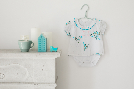 Body rochița pentru fete, turcoaz, TinTin Shop [1]