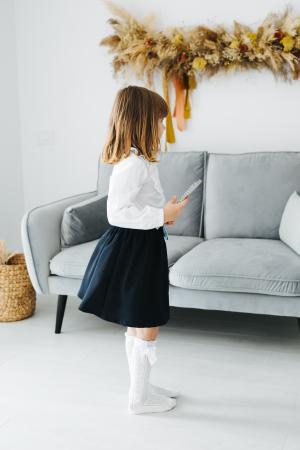 Camasa Alba Pentru Fete, Cu Dantela, Pentru Scoala, TinTin Shop [2]