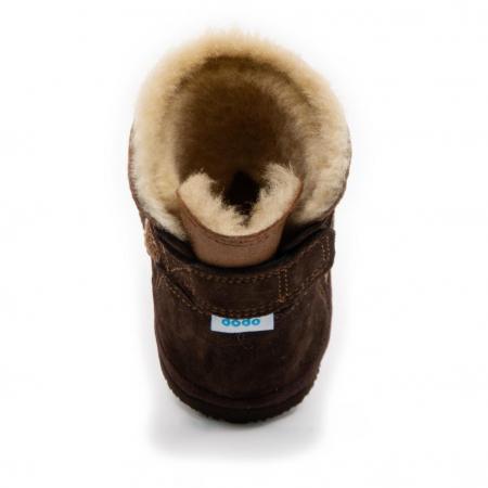 Cizme imblanite antracit cu ursulet, DODO Shoes [2]