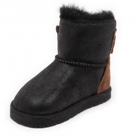 Cizme imblanite antracit cu ursulet, DODO Shoes [1]