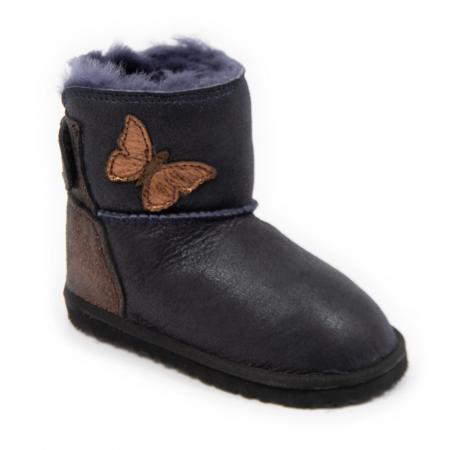 Cizme imblanite cobalt cu fluturas, DODO Shoes0