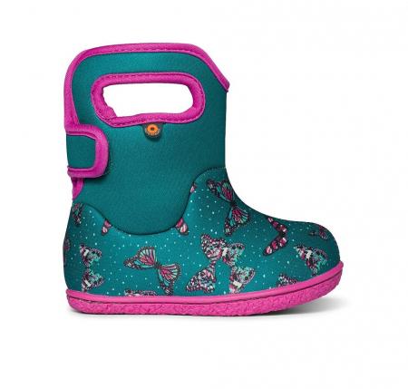 Cizme impermeabile copii, BOGS FOOTWARE, Butterflies Teal