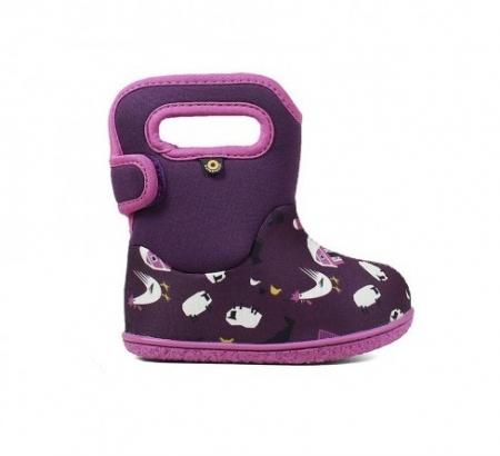 Cizme impermeabile copii, BOGS FOOTWARE, Farm Purple