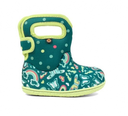 Cizme impermeabile copii, BOGS FOOTWARE, Rainbow turcoaz