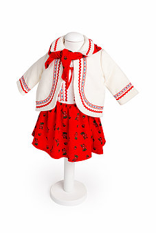 Costum traditional pentru fetite cu ilic, TinTin Shop