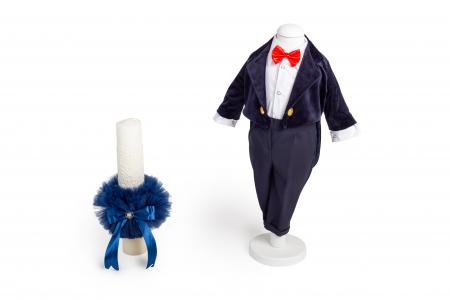Costum frac catifea albastru TinTin Shop [2]