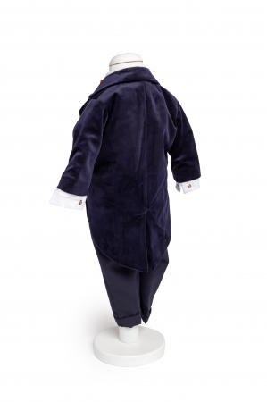 Costum frac catifea albastru TinTin Shop [1]