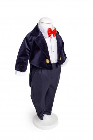 Costum frac catifea albastru TinTin Shop [0]