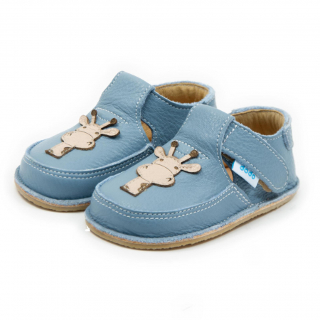 Pantofi baby blue cu girafa, Dodo Shoes1