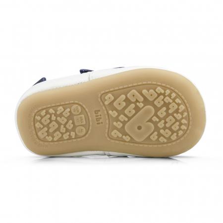 Pantofi Bibi Afeto Joy Naval/alb cu siret elastic1
