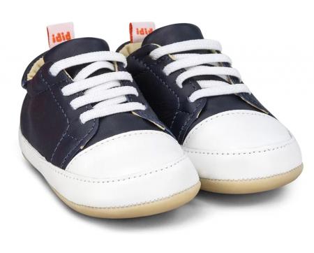 Pantofi Bibi Afeto Joy Naval/alb cu siret elastic