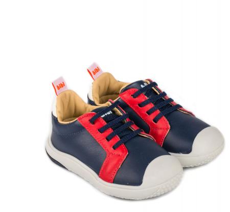 Pantofi Bibi Prewalker Naval cu șiret elastic0
