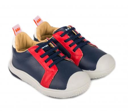 Pantofi Bibi Prewalker Naval cu șiret elastic1