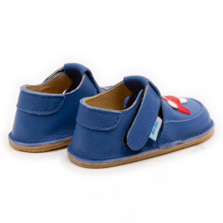 Pantofi copii albastri cu avion, Dodo Shoes1