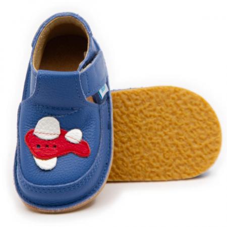 Pantofi copii albastri cu avion, Dodo Shoes0