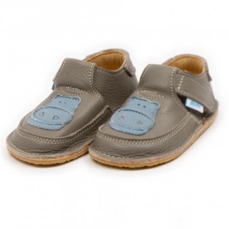 Pantofi copii cafea cu lapte cu hipopotam, Dodo Shoes1