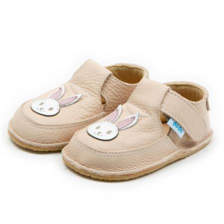 Pantofi crem cu iepuras, Dodo Shoes1