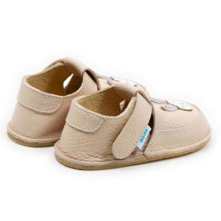 Pantofi crem cu iepuras, Dodo Shoes2