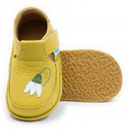 Pantofi galbeni cu ghiocel, Dodo Shoes0