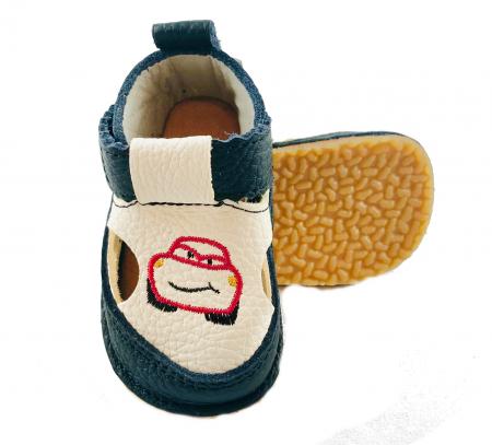 Sandale baieti albastru inchis cu masinuta, Macco