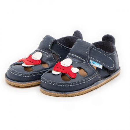 Sandale copii, smokey sky cu avion, Dodo Shoes1